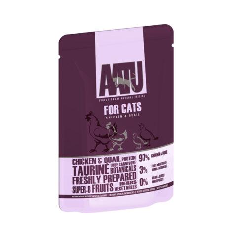AATU – מזון רטוב לחתולים – עוף ושליו 85 גרם
